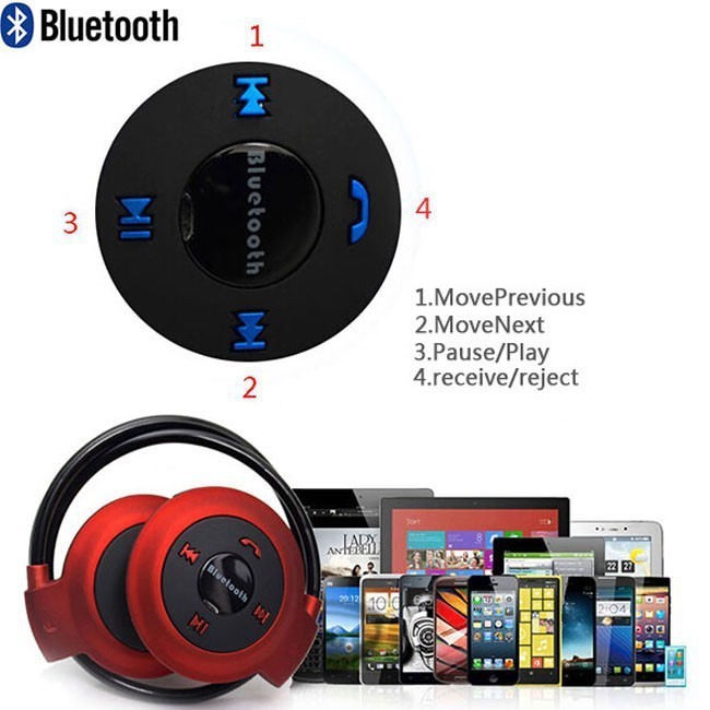 blau mini bluetooth stereo kabelloses headset kopfh rer. Black Bedroom Furniture Sets. Home Design Ideas