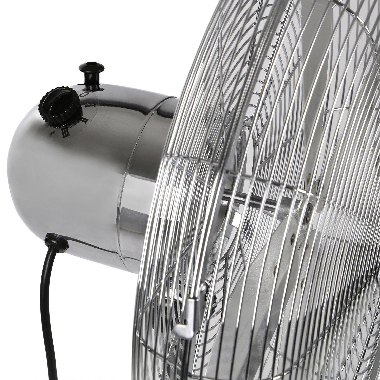 Pedestal floor fan chrome metal retro floorstanding for 14 inch chrome floor standing fan