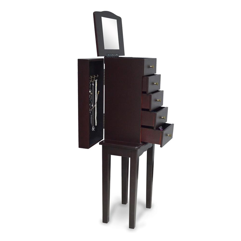 New wooden mirror jewelry cabinet makeup organizer dresser
