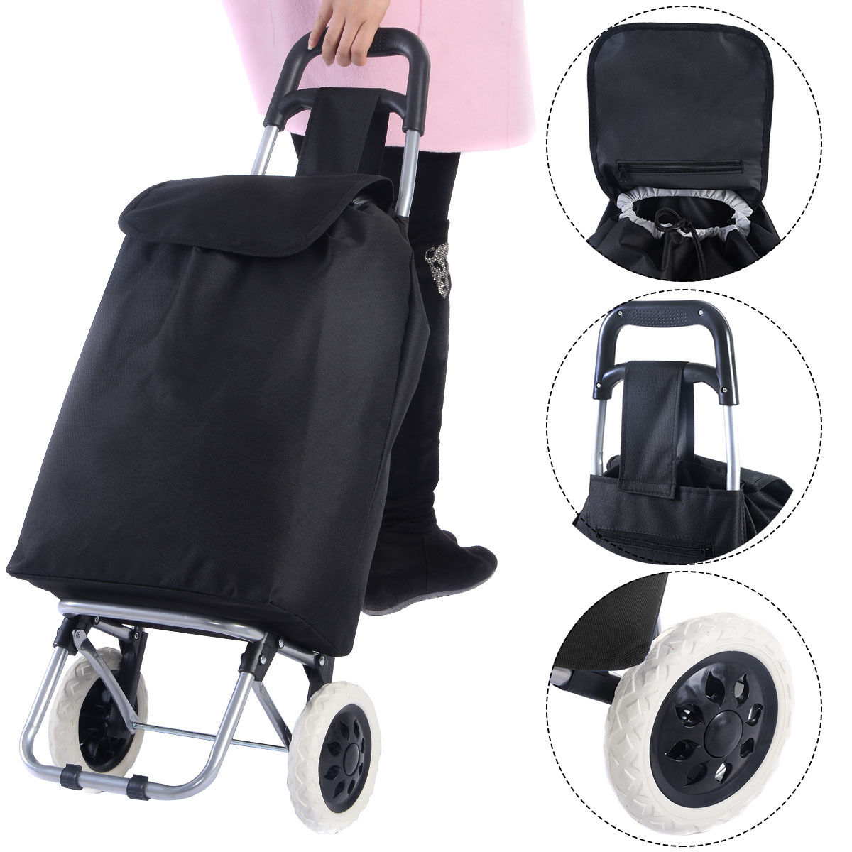 Travel Shopping Trolley Bag Grocery Rolling Wheel Cart