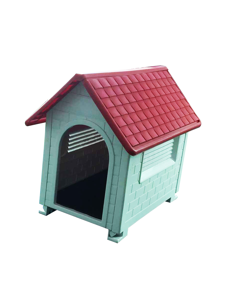 Waterproof outdoor indoor plastic pet puppy dog house for Hard plastic dog house