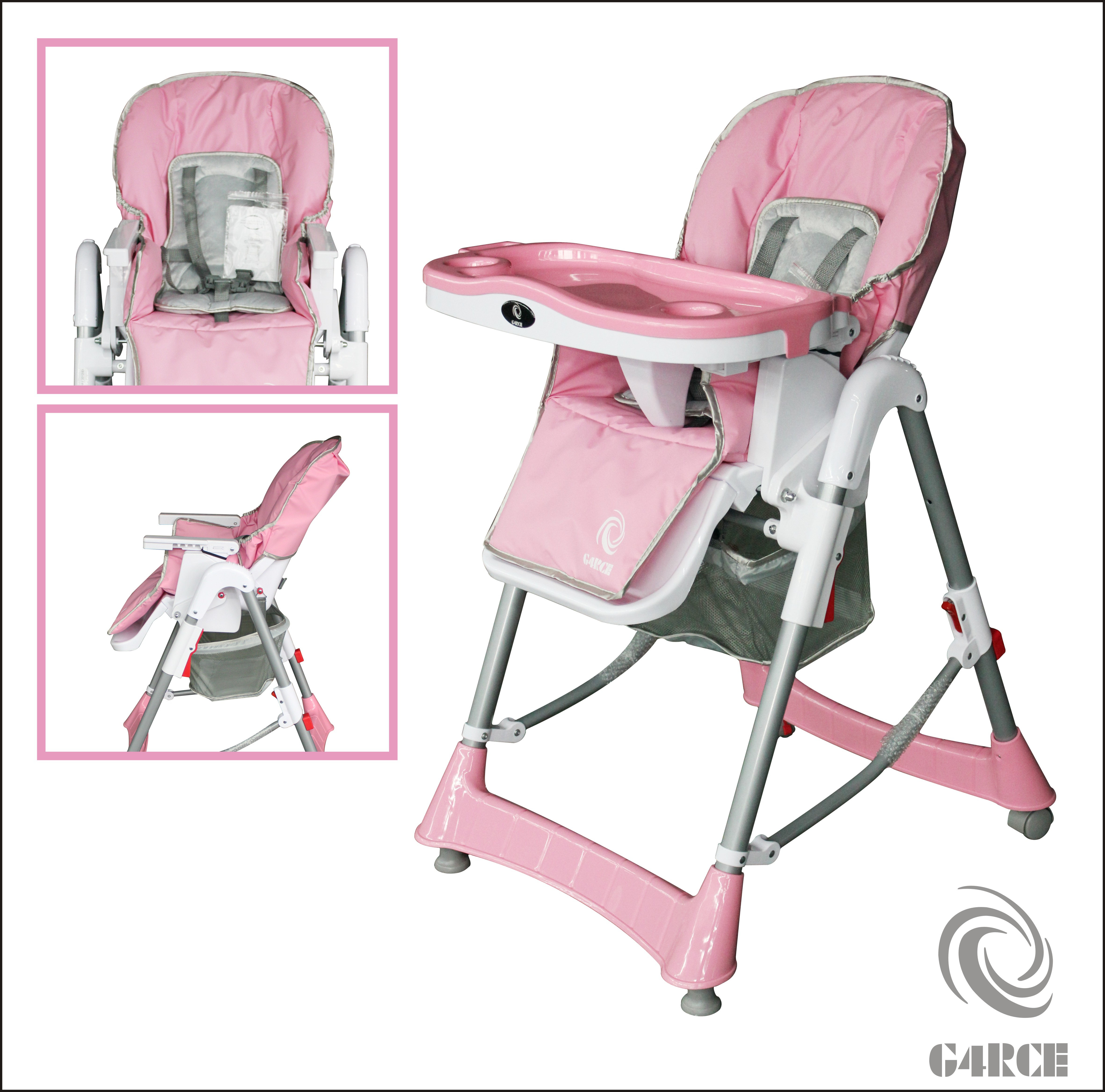 Click on the Image to Enlarge  sc 1 st  eBay & G4RCE Foldable 3 IN 1 Baby Toddler Infant Highchair Feeding ... islam-shia.org