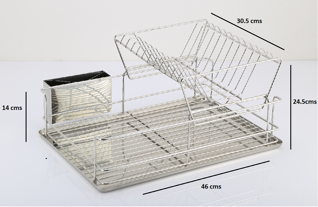 Rust Free 2 Tier Stainless Steel Collapsible Dish Kitchen