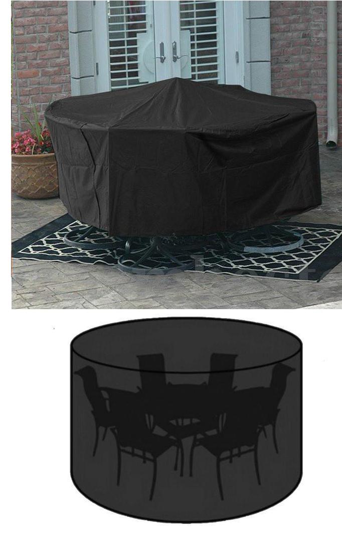 6 Chair Patio Set Cover: Patio Garden Outdoor Round Table & Chair Set 6/8 Cover